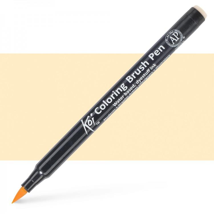 Sakura : Koi : Color Brush Pen : Naples Yellow