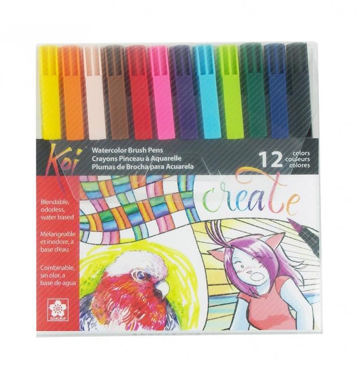 Sakura : Koi : Color Brush Pen : Set of 12