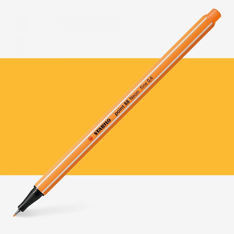 Stabilo : Point 88 : Watersoluble Fineliner Pen : 0.4mm : Fluorescent Orange