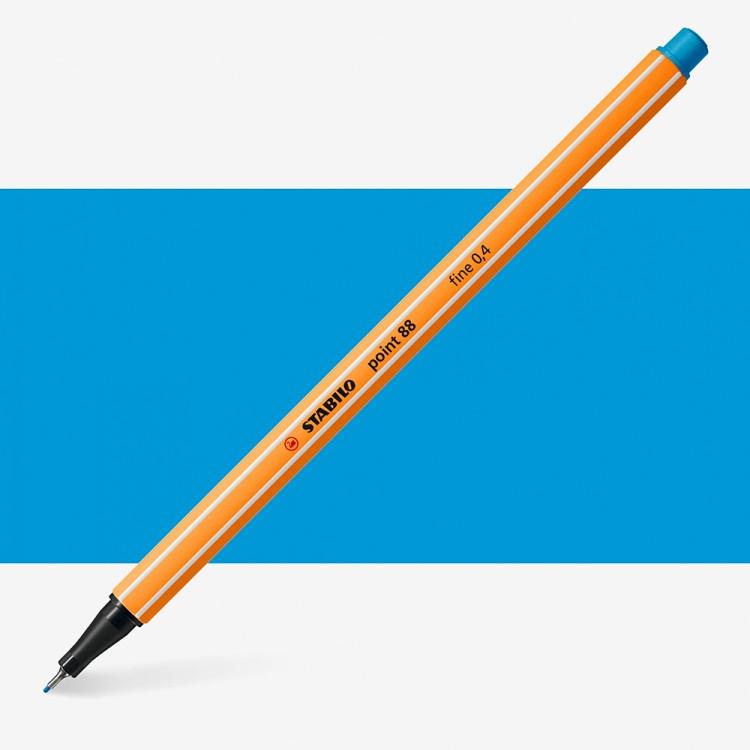 Stabilo : Point 88 : Watersoluble Fineliner Pen : 0.4mm : Azure