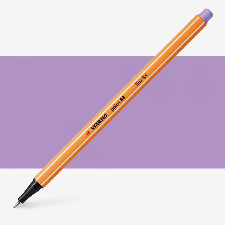 Stabilo : Point 88 : Watersoluble Fineliner Pen : 0.4mm : Light Lilac