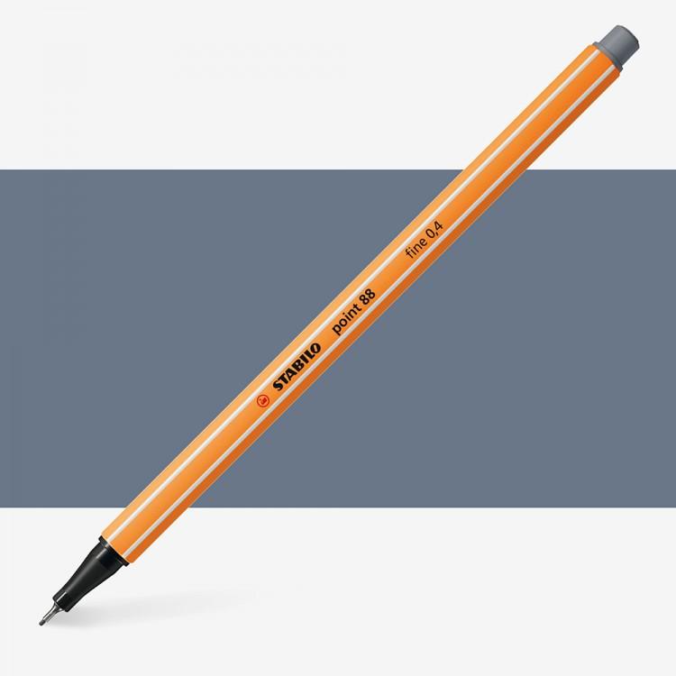 Stabilo : Point 88 : Watersoluble Fineliner Pen : 0.4mm : Dark Grey