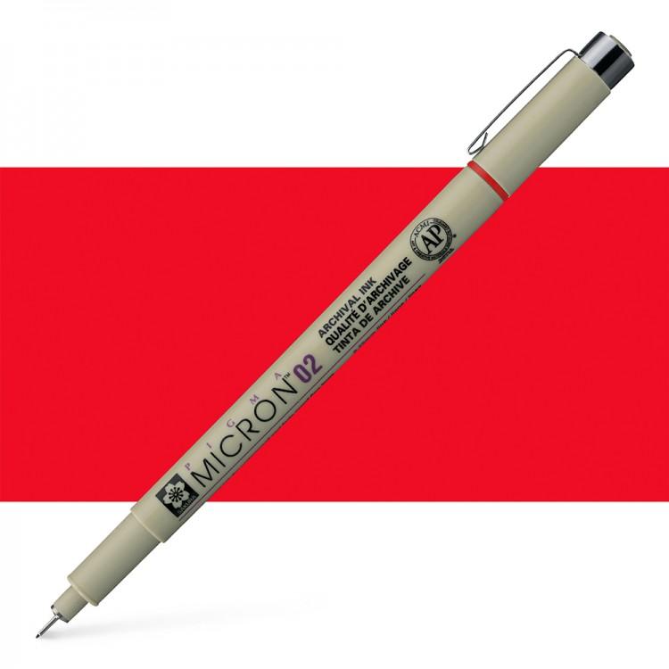 Sakura : Pigma : Micron Pen 02 : Red : 0.3 mm