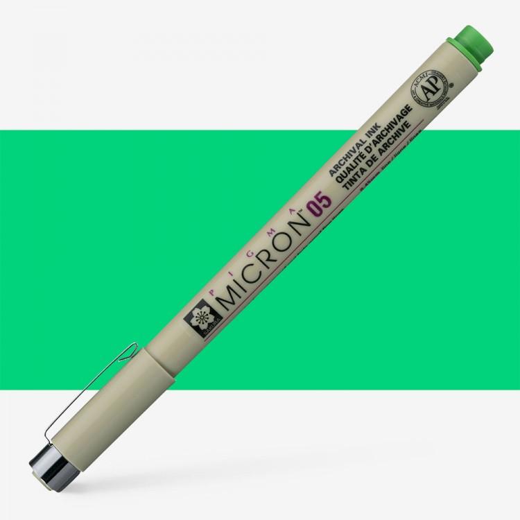 Sakura : Pigma : Micron Pen 05 : Fresh Green : 0.45 mm