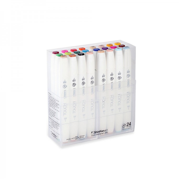 ShinHan : Touch Twin 24 Brush Marker Pen Set : Assorted