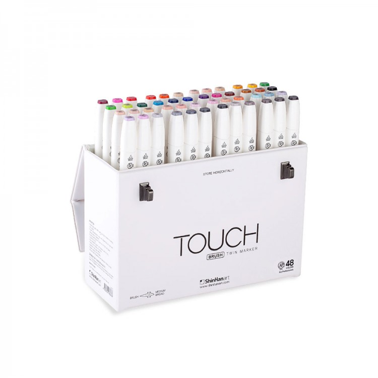 ShinHan : Touch Twin 48 Brush Marker Pen Set : Assorted
