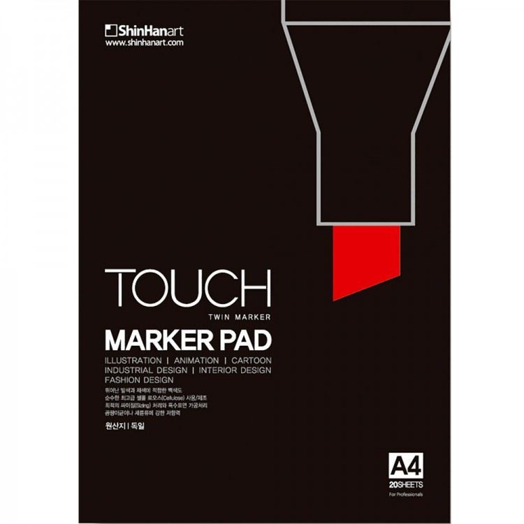 ShinHan : Touch Marker Pen Pad 20 sheets : 297 x 210 mm (A4)