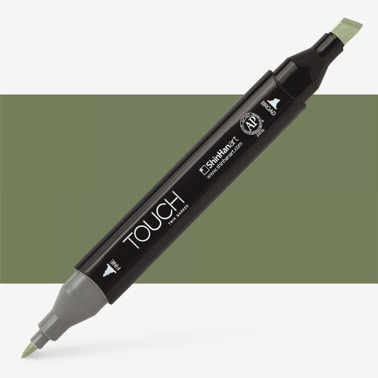 Shin Han : Touch Twin Marker Pen : Bronze Green : Y42