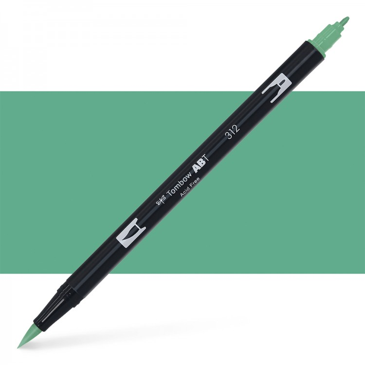 Tombow : Dual Tip Blendable Brush Pen : Holly Green