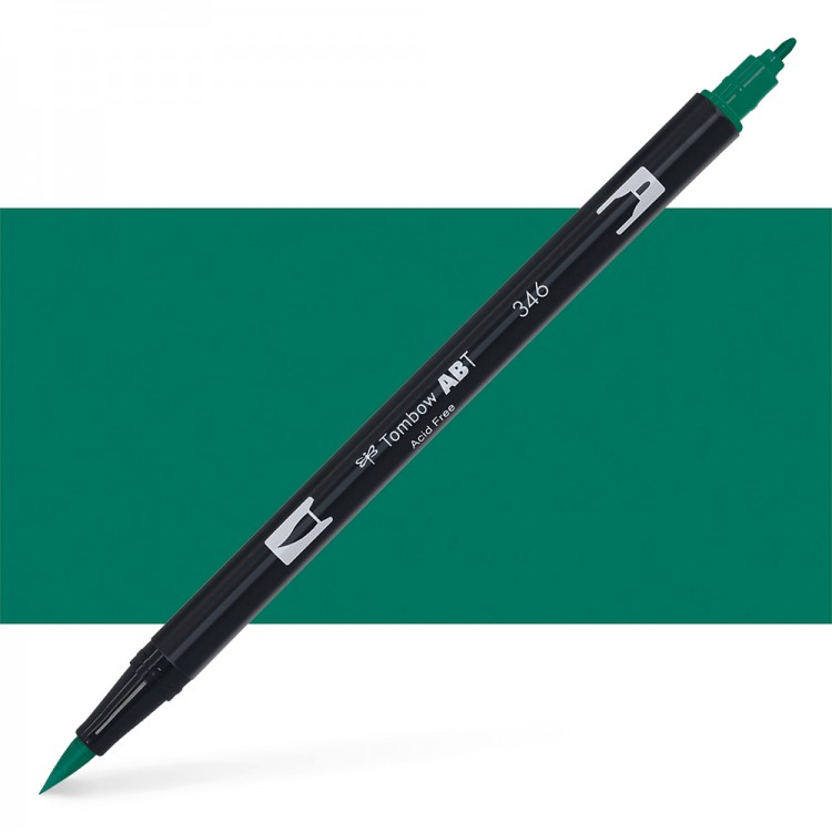 Tombow : Dual Tip Blendable Brush Pen : Sea Green