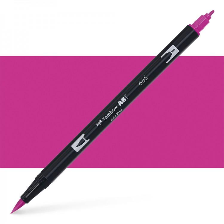 Tombow : Dual Tip Blendable Brush Pen : Purple