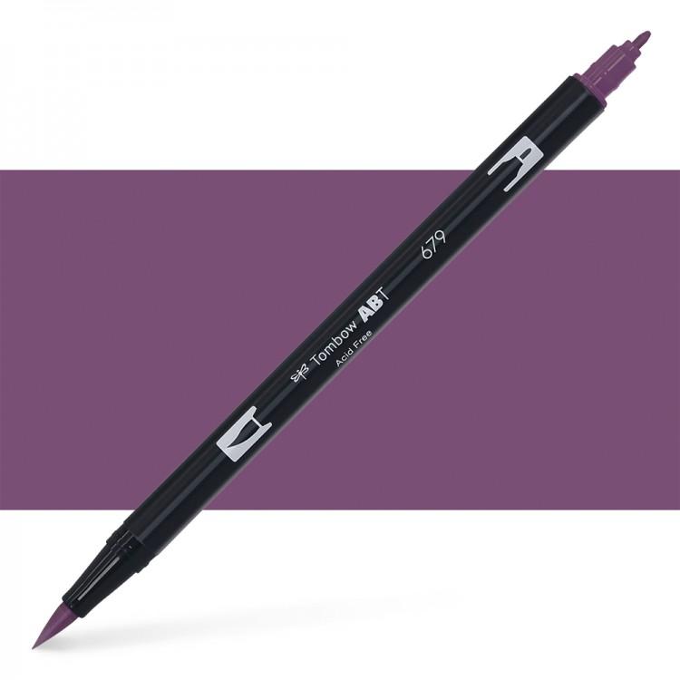 Tombow : Dual Tip Blendable Brush Pen : Dark Plum