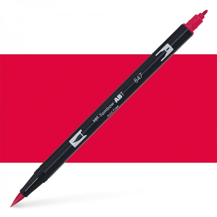 Tombow : Dual Tip Blendable Brush Pen : Crimson