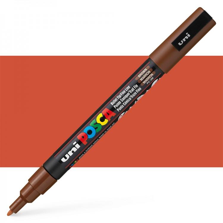 Uni : Posca : Marker : PC-3M : Fine Bullet Tip : 0.9 - 1.3mm : Brown
