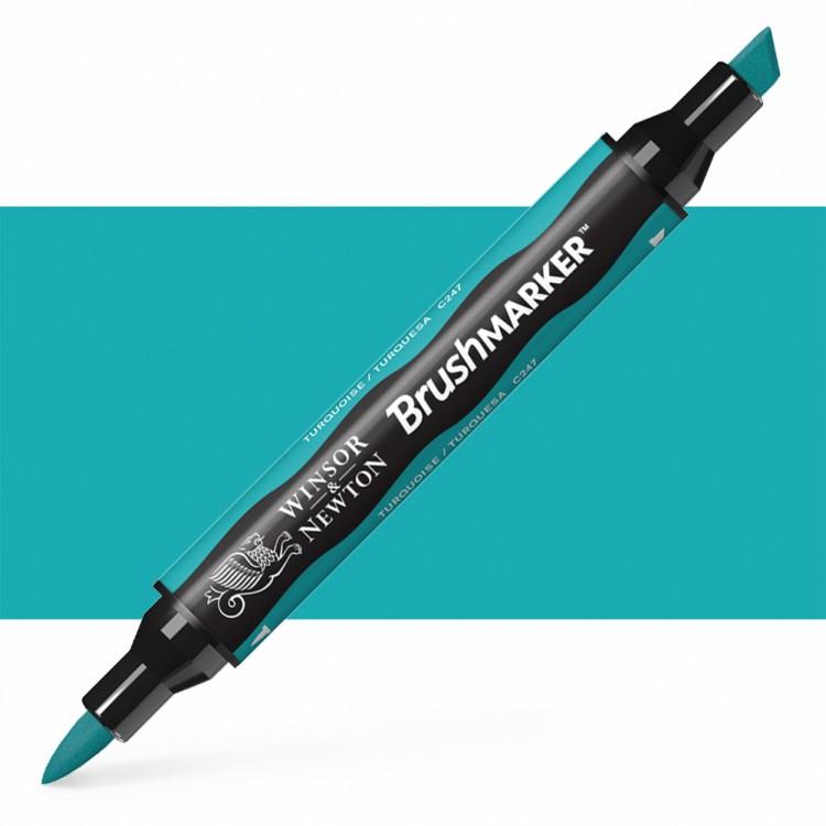 Winsor & Newton : Brush Marker : Turquoise