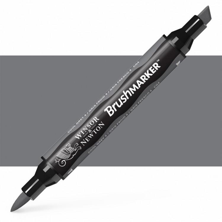 Winsor & Newton : Brush Marker : Cool Grey 4