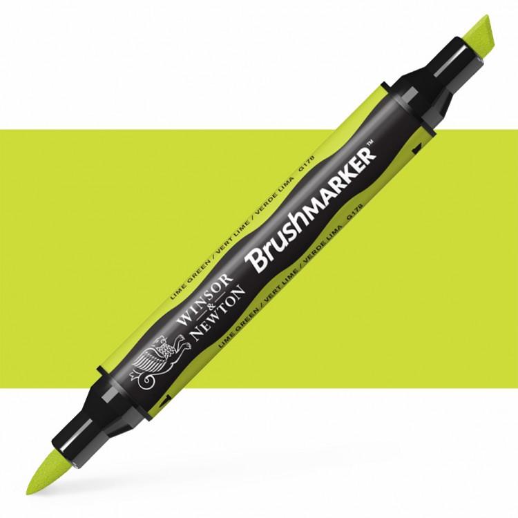 Winsor & Newton : Brush Marker : Lime Green