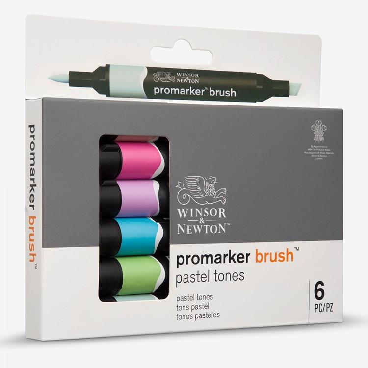 Winsor & Newton : Brush Marker : Set of 6 : Pastel Tones