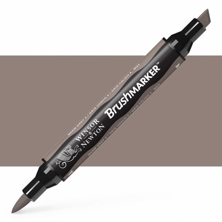 Winsor & Newton : Brush Marker : Warm Grey 4