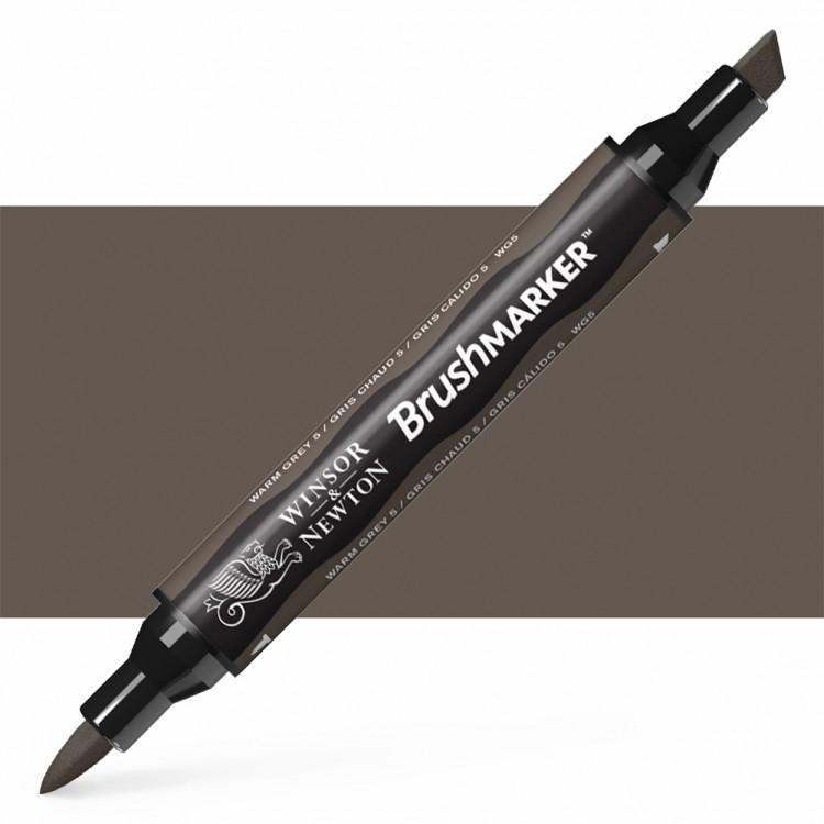 Winsor & Newton : Brush Marker : Warm Grey 5