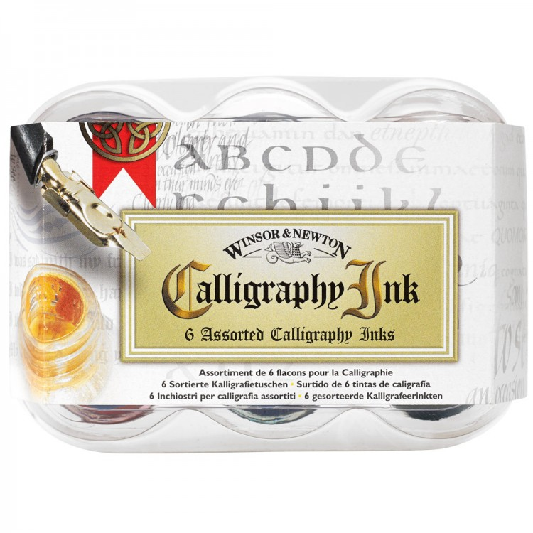 Winsor Newton Calligraphy 6 Ink Set W N