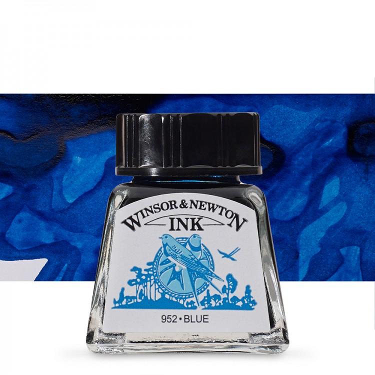 Winsor & Newton : Drawing Ink 14ml Bottle : Blue : (water resistant)