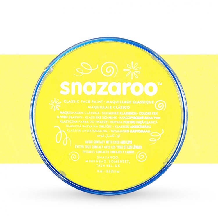 Snazaroo Face Paints Individual Classic Colours 18ml Pale Yellow