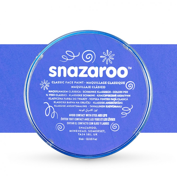 Snazaroo Face Paints Individual Classic Colours 18ml Sky Blue