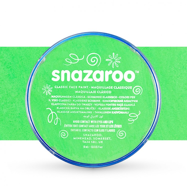 Snazaroo Face Paints Individual Classic Colours 18ml Lime Green