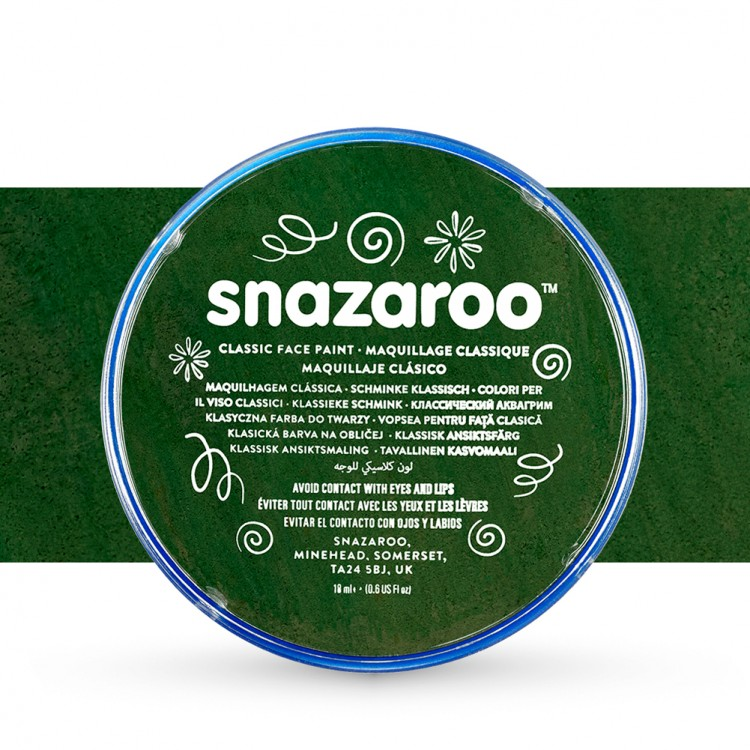 Snazaroo Face Paints Individual Classic Colours 18ml Dark Green