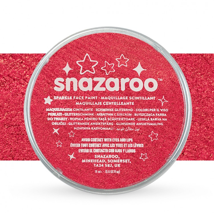 Snazaroo Face Paints Individual Sparkle Colours 18ml Red