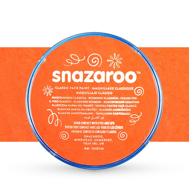 Snazaroo Face Paints Individual Classic Colours 18ml Orange
