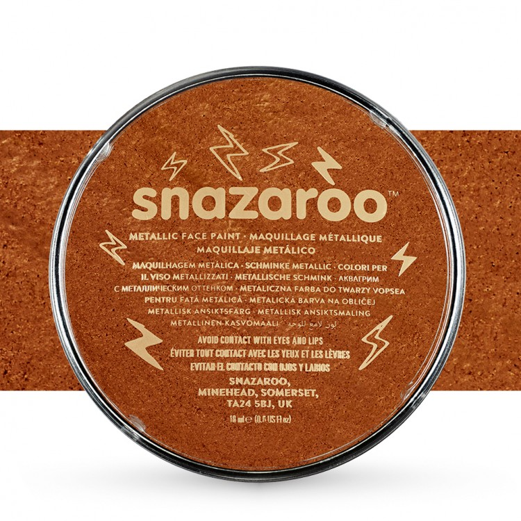 Snazaroo Face Paints Individual Metalic Colours 18ml Copper