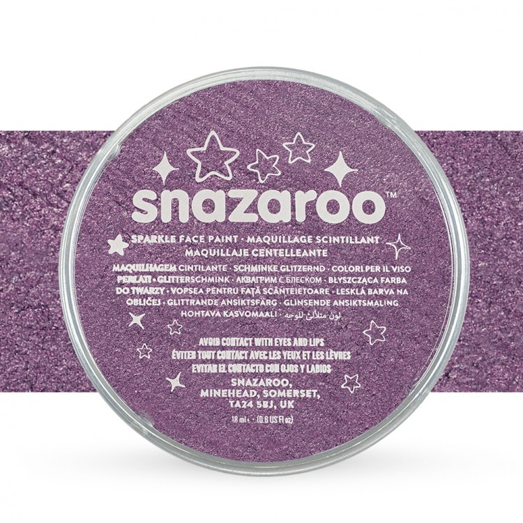 Snazaroo Face Paints Individual Sparkle Colours 18ml Lilac