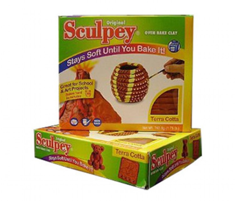 Sculpey Original : Oven Bake Modelling Clay : 795g : Terracotta