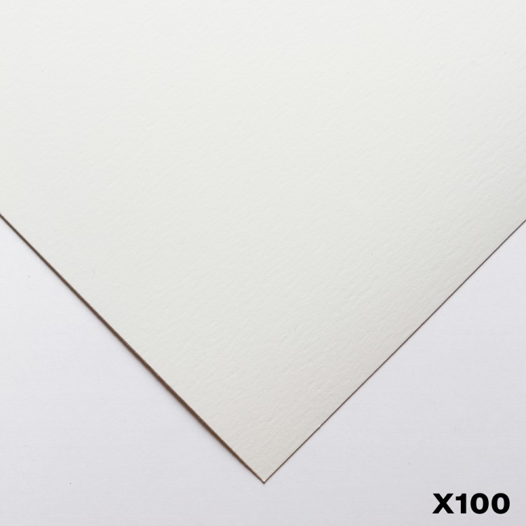 Bockingford : 140lb : 300gsm : Pack of 100 1/4 Sheets : 15x11in : Hot Pressed