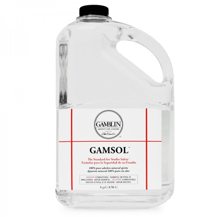Gamblin : Gamsol Odourless Mineral Spirit : 3780ml : Ship By Road Only