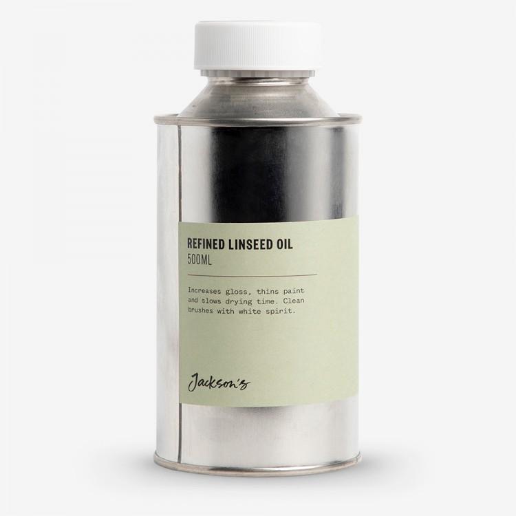 Jackson's : Refined Linseed Oil 500ml - Artist's Alkali Refined