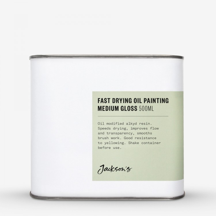 Jackson's : Fast Drying Oil Painting Medium : Gloss : 500ml : By Road Parcel Only