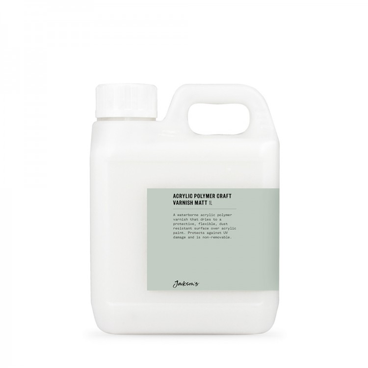 Jackson's : Acrylic Polymer Varnish MATTE : 1 litre with UV stabilisers