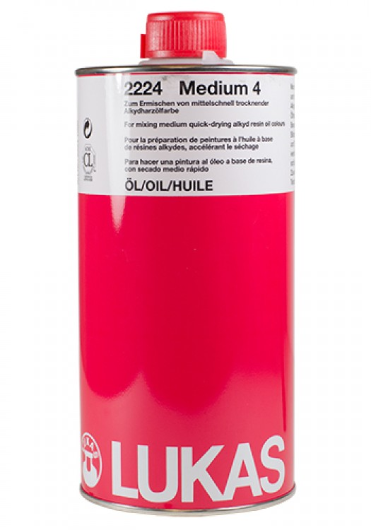 Lukas : Alkyd Medium 4 : 1 Litre : By Road Parcel Only