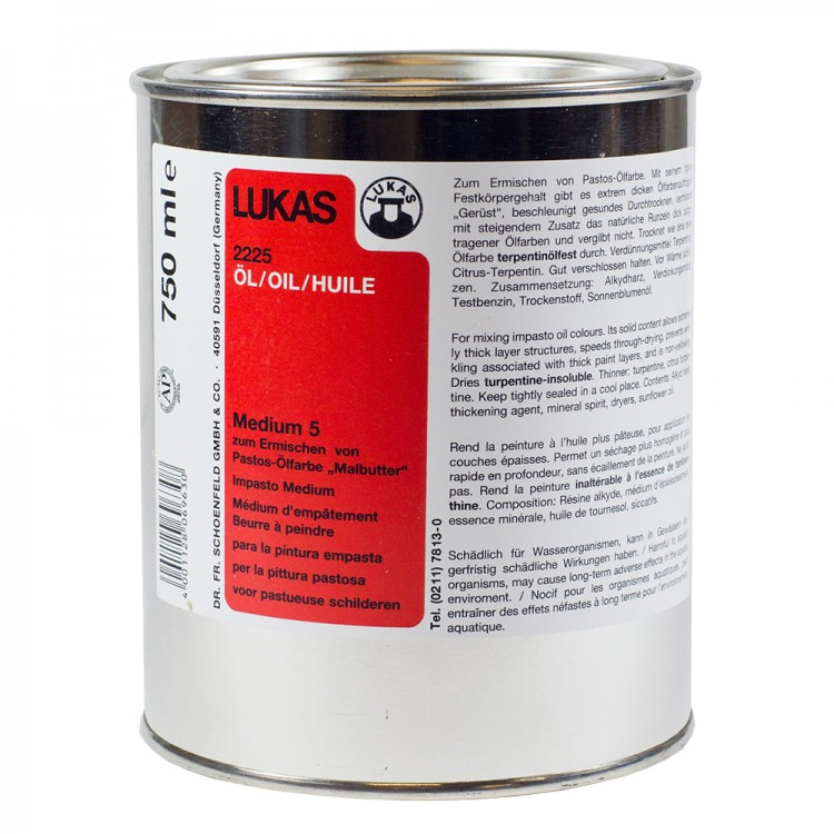 Lukas : Alkyd Medium 5 : Painting Butter : 750ml : Ship By Road Only