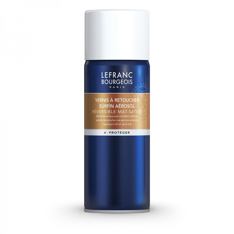 Lefranc & Bourgeois : Extra Fine Retouching Oil Varnish Spray : 400 ml *Haz* (Ship By Road Only