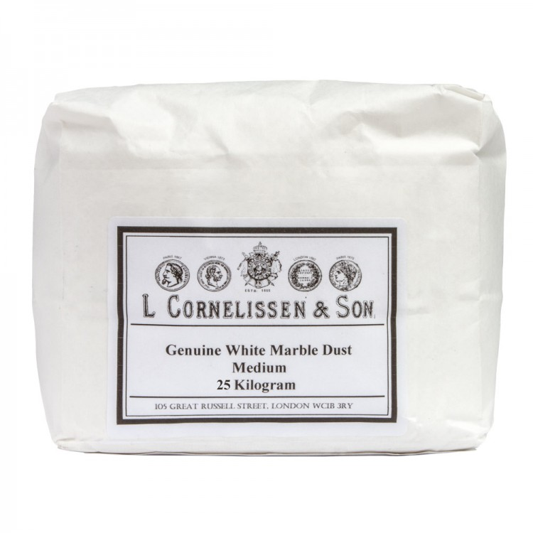 Cornelissen : Marble Dust Medium Grain : Genuine White : 25kg allow 2 weeks extra for delivery