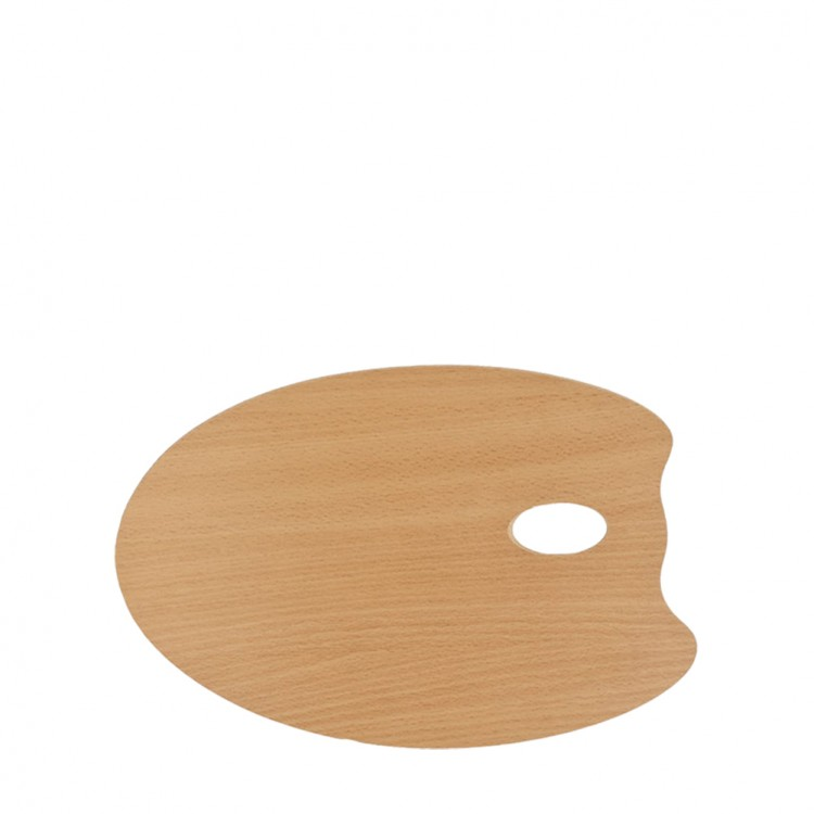 Mabef : OVAL Wooden Palette 25 x 35 cm (3.7mm thick)
