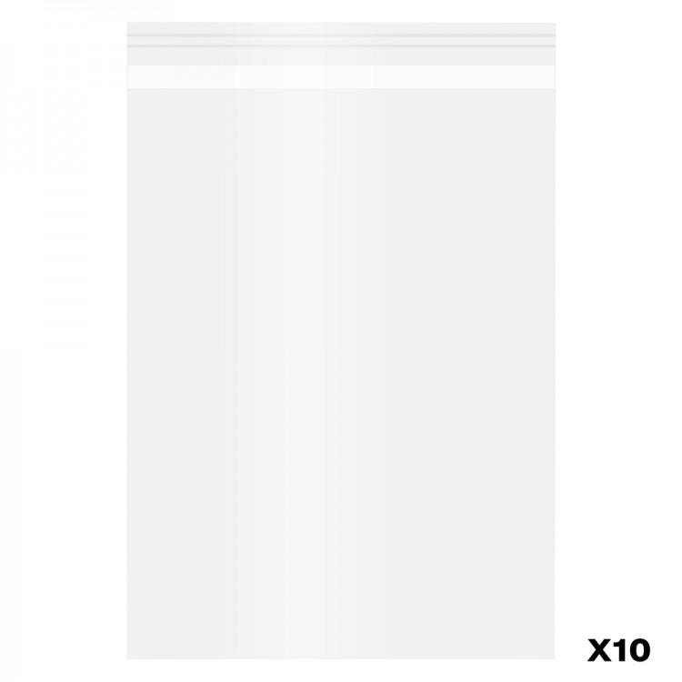 10 Pack Polypropylene Bags self-seal : A5