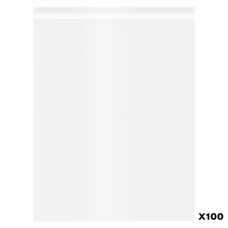 Jackson's : Self-Seal Polypropylene Bag : Pack of 100 : 12x16in