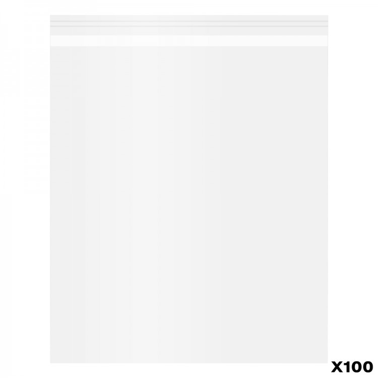 100 Pack of Polypropylene Bags self-seal : 8x10 in.