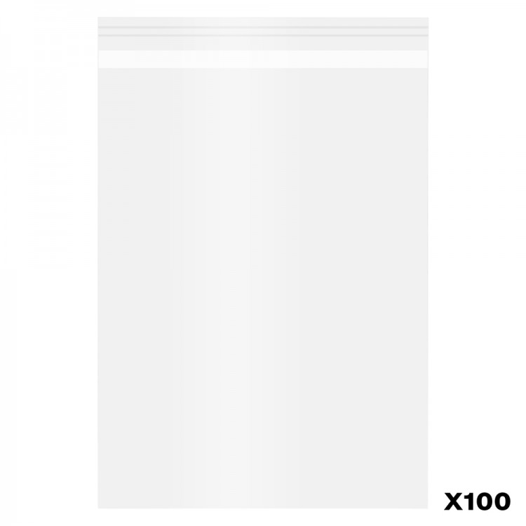 Jackson's : Self-Seal Polypropylene Bag : Pack of 100 : A5