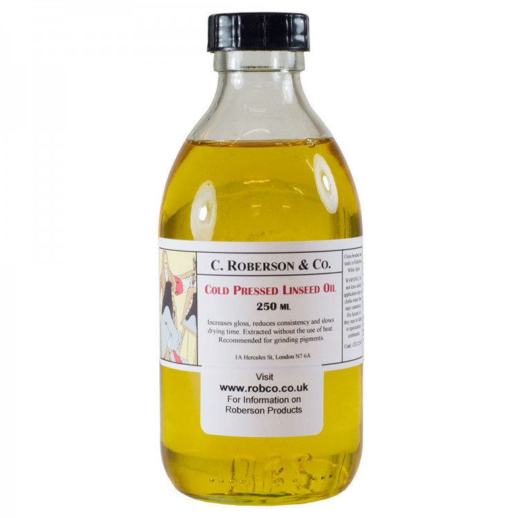 Roberson : Cold Pressed Linseed Oil : 250ml